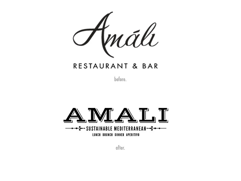 old and new versions of amali logo